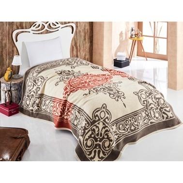 Komfort Home Çift Kişilik Desenli Battaniye Renkli